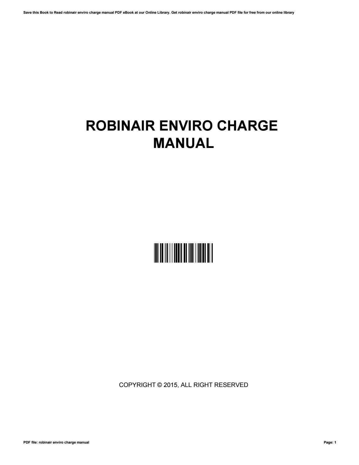 robinair enviro charge manual by mankyrecords50 issuu rh issuu com Robinair Parts Robinair Gauges