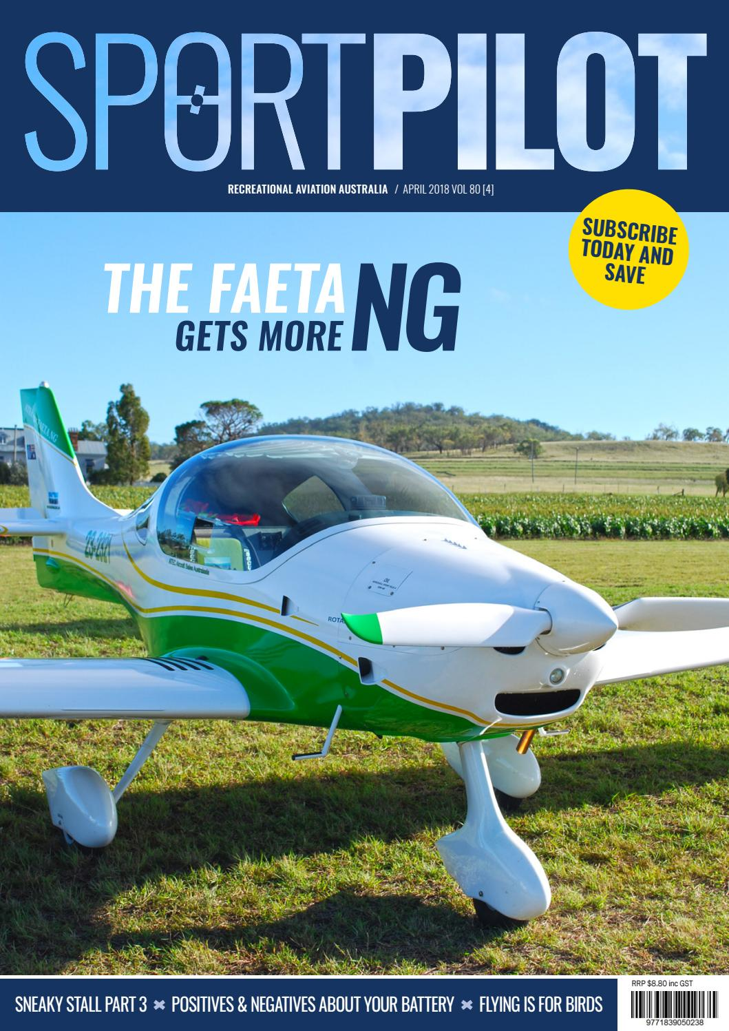 Sport pilot 80 apr 2018 by Recreational Aviation Australia - issuu