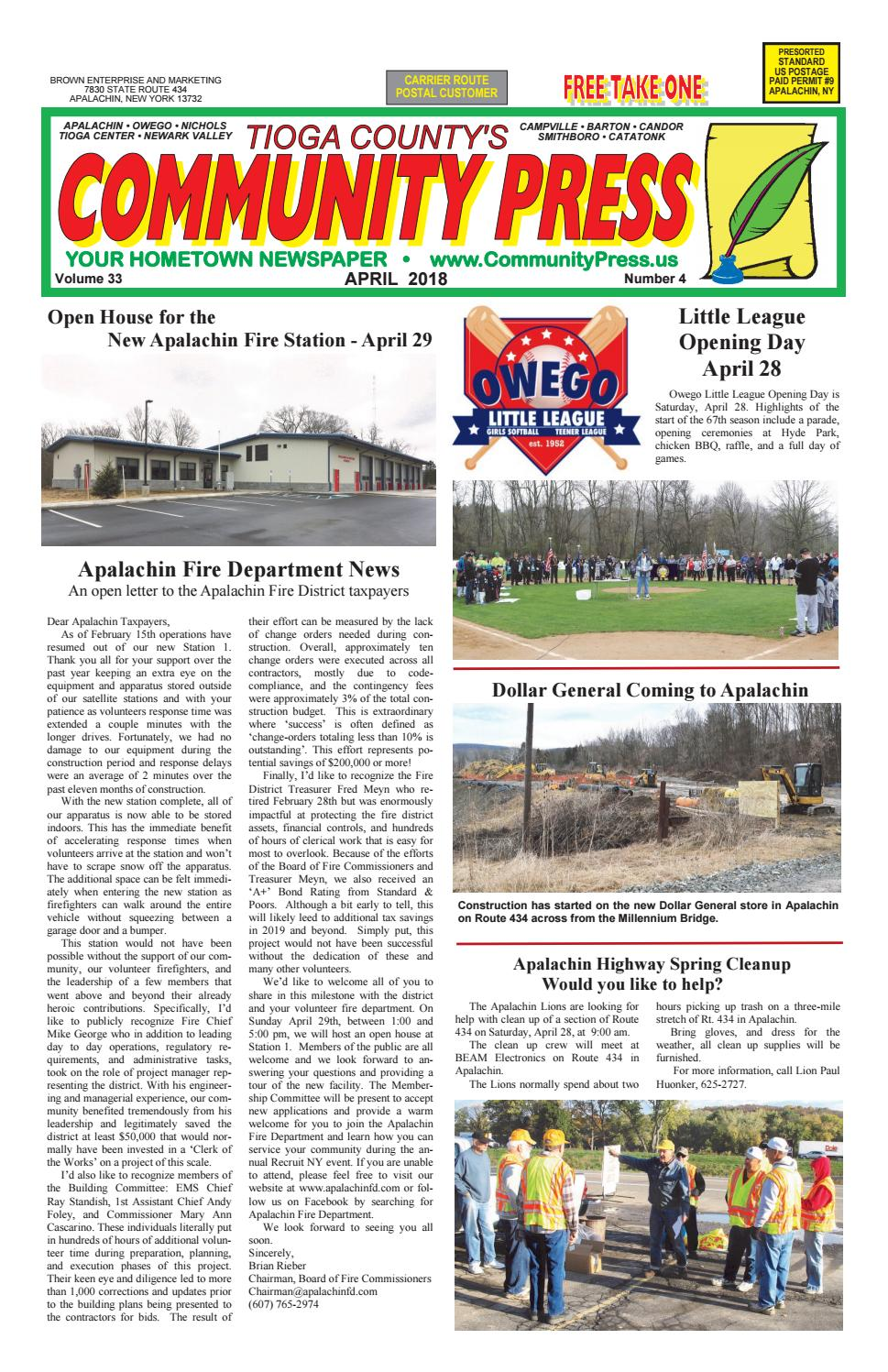 Community Press April 2018 By Fred Brown Issuu