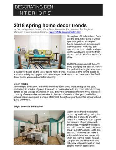 spring home decor trends 2018 by ross c feltz issuu rh issuu com spring summer 2018 home decor trends