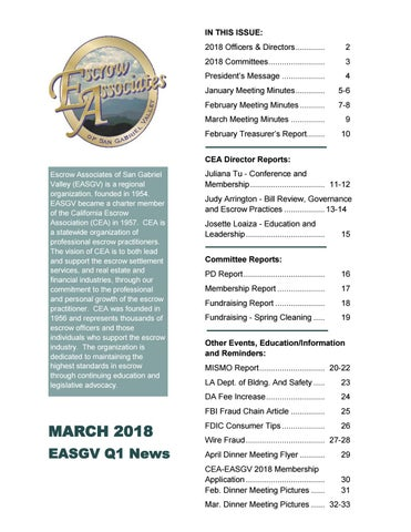 Miraculous Easgv March 2018 Edition By Escrow Associates Of San Gabriel Valley Wiring 101 Mecadwellnesstrialsorg