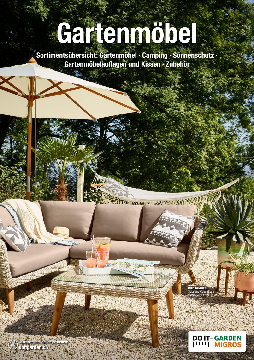 Sortimentsübersicht Gartenmöbel 2018 By Migros