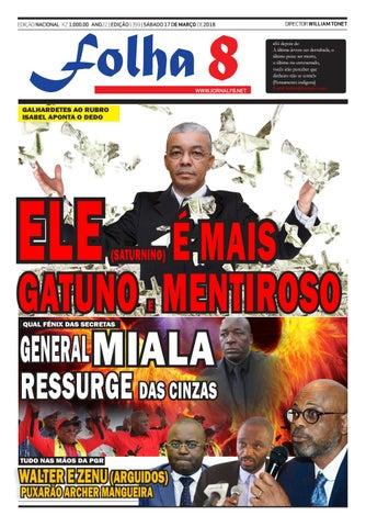 Jornal Folha 8 Edição De 17032018 By Jornal Folha 8 Issuu