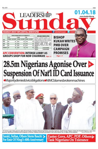 4963e206f Leadership epaper 1st April 2018 by Leadership Newspapers Nigeria ...
