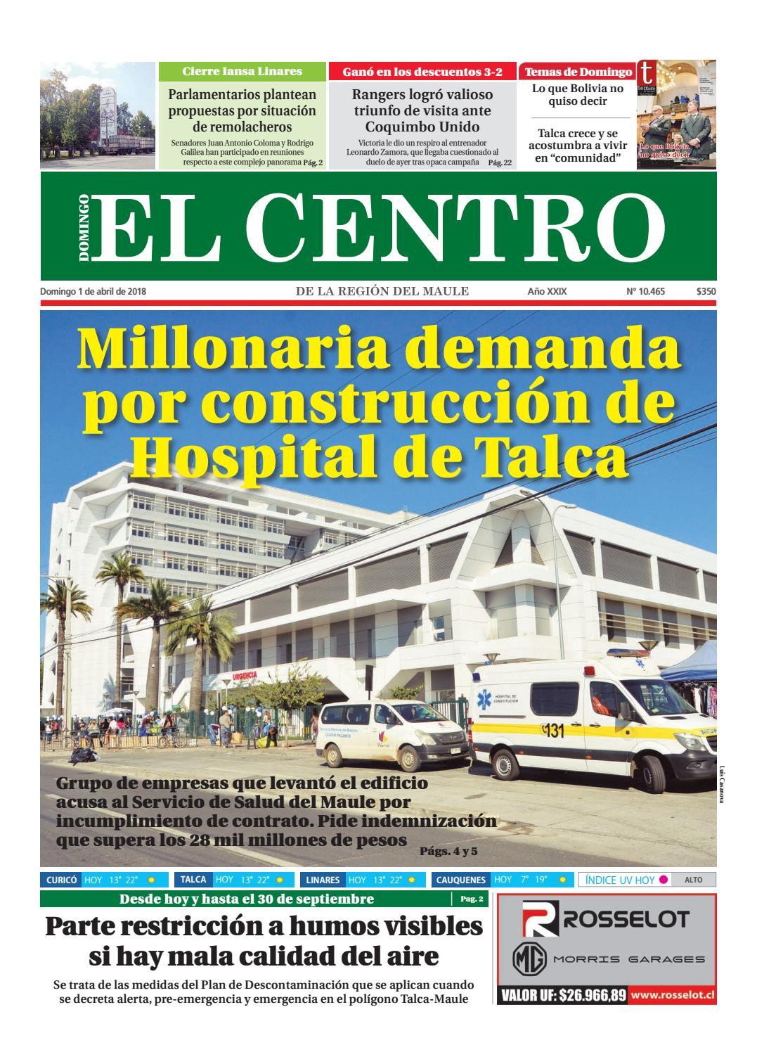 Diario 01 03 2018 By Diario El Centro S A Issuu
