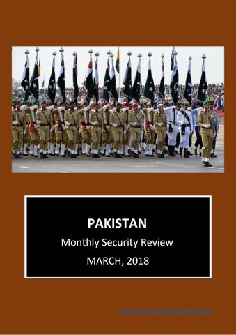 Pakistan security & political review mar 2018 by Security