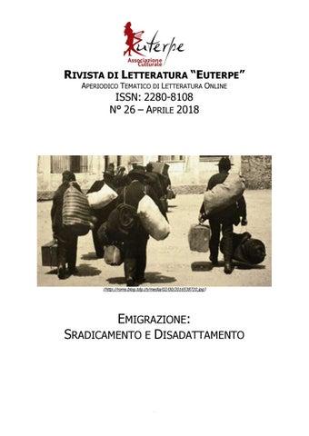 Euterpe n 26 aprile 2018 emigrazione sradicamento e disadattamento ... f8b23798373