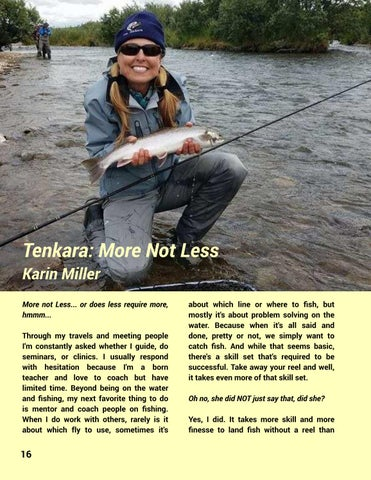 Page 18 of Tenkara: More Not Less - Karin Miller