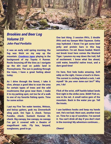 Page 40 of Brookies & Beer Log Volume 23 - John-Paul Povilaitis