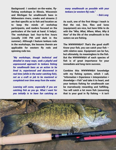 Page 53 of Smallmouth Bass: A Wonderful Fish for the Tenkara Rod - Bob Long