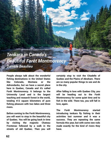 Page 64 of Tenkara in Canada's Beautiful Foret Montmorency - Daniele Beaulieu