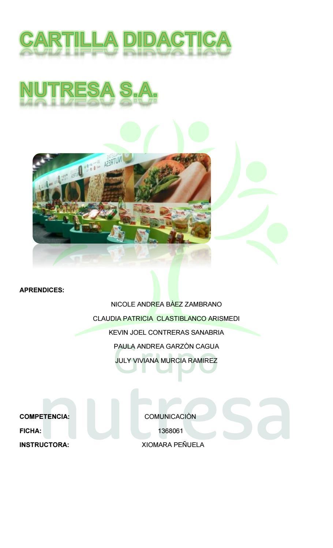 Cartilla Didactica Nutresa Comunicacion 1 By Andrea Baez Issuu