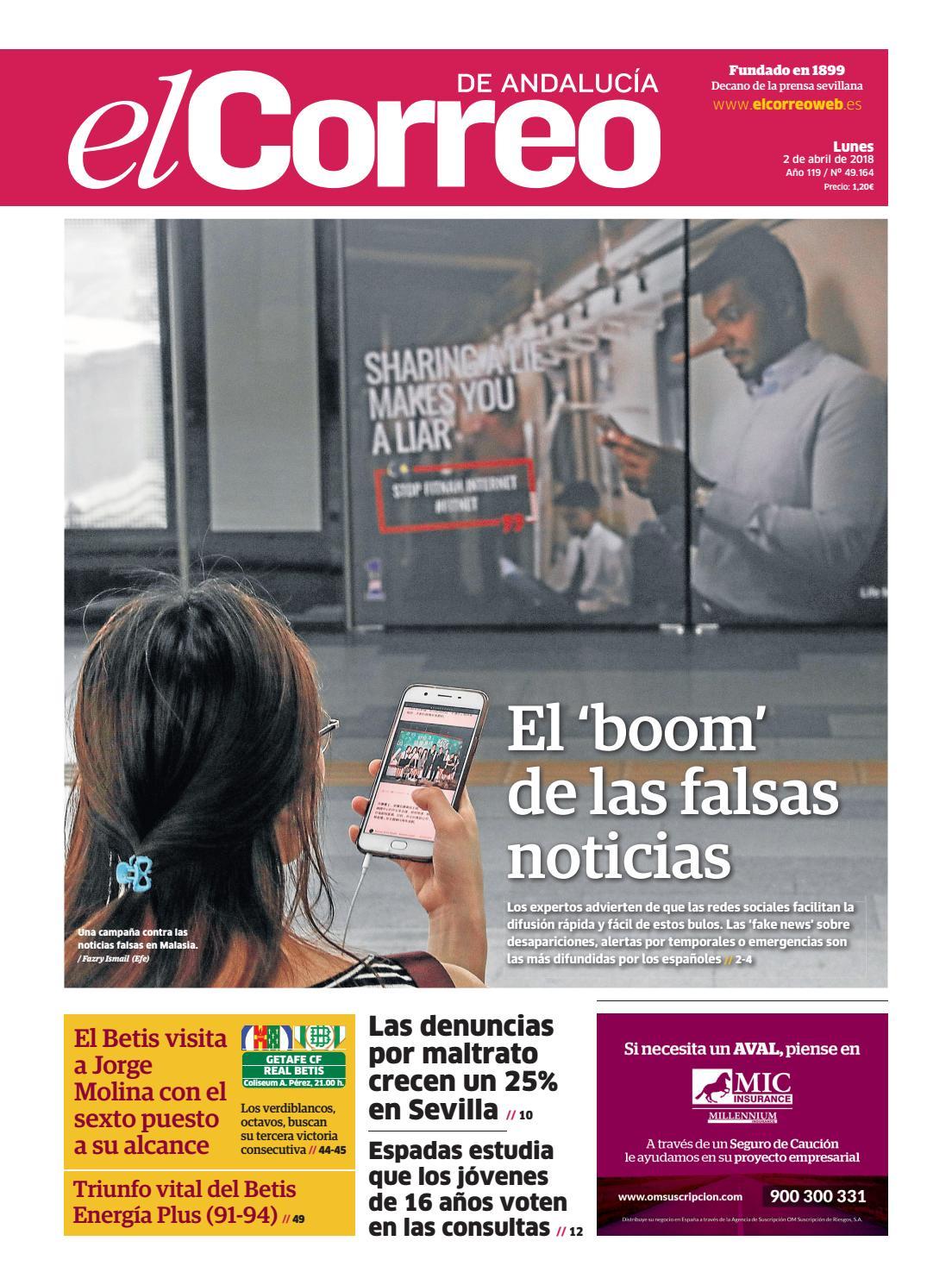 c8e8f0195 02.04.2018 El Correo de Andalucía by EL CORREO DE ANDALUCÍA S.L. - issuu