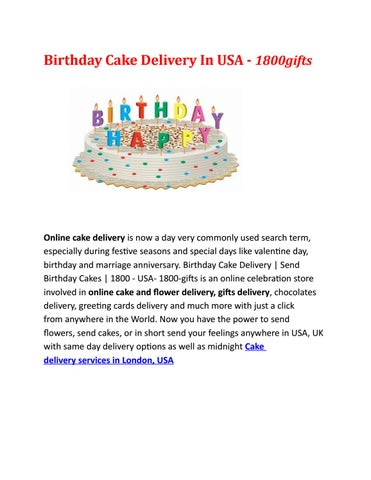 Page 1 Birthday Cake Delivery In USA