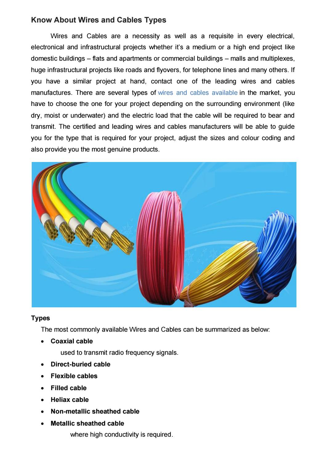 Types Of Electrical Wires