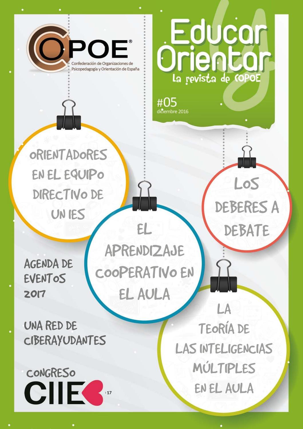 Educar y Orientar - Nº 5, diciembre 2016 by COPOE - Confederación de ...