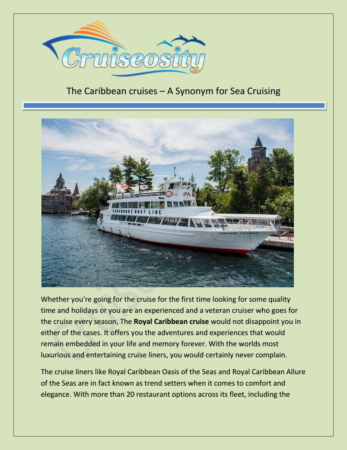 The Caribbean Cruises a synonym for Sea Cruising by cruiseosity - issuu