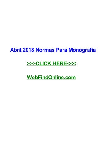 abnt 2018 normas para monografia by jamessagcw issuu