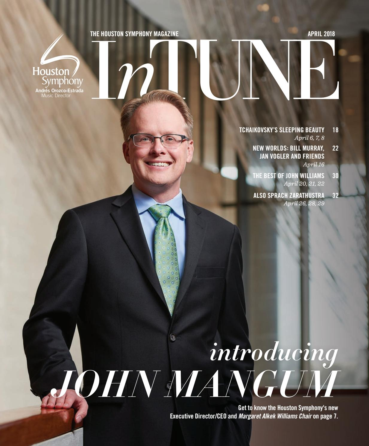 1b5c94b4b5a InTune — The Houston Symphony Magazine — April 2018 by Houston ...