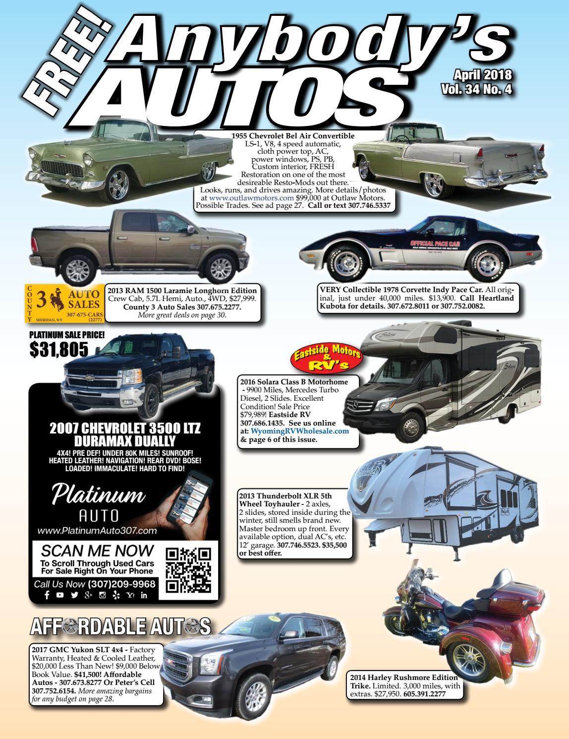 April 2018 by Anybodys Autos - issuu