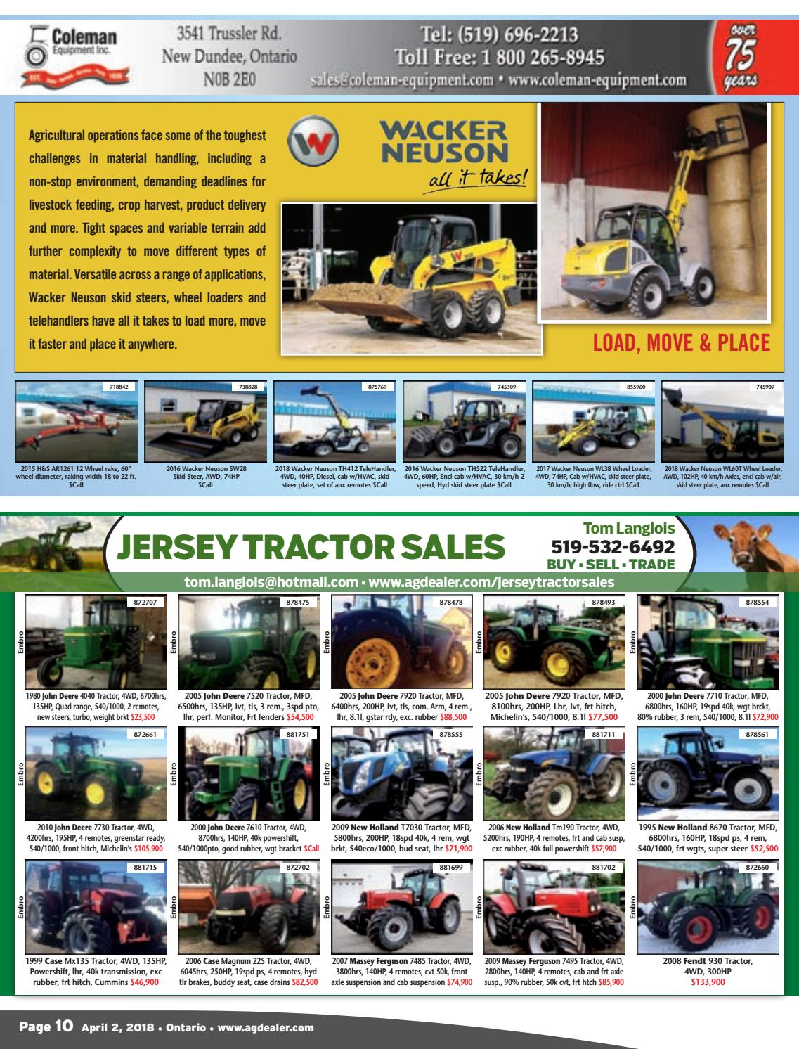 AGDealer ALL Ontario Edition, April 2, 2018 by Farm Business
