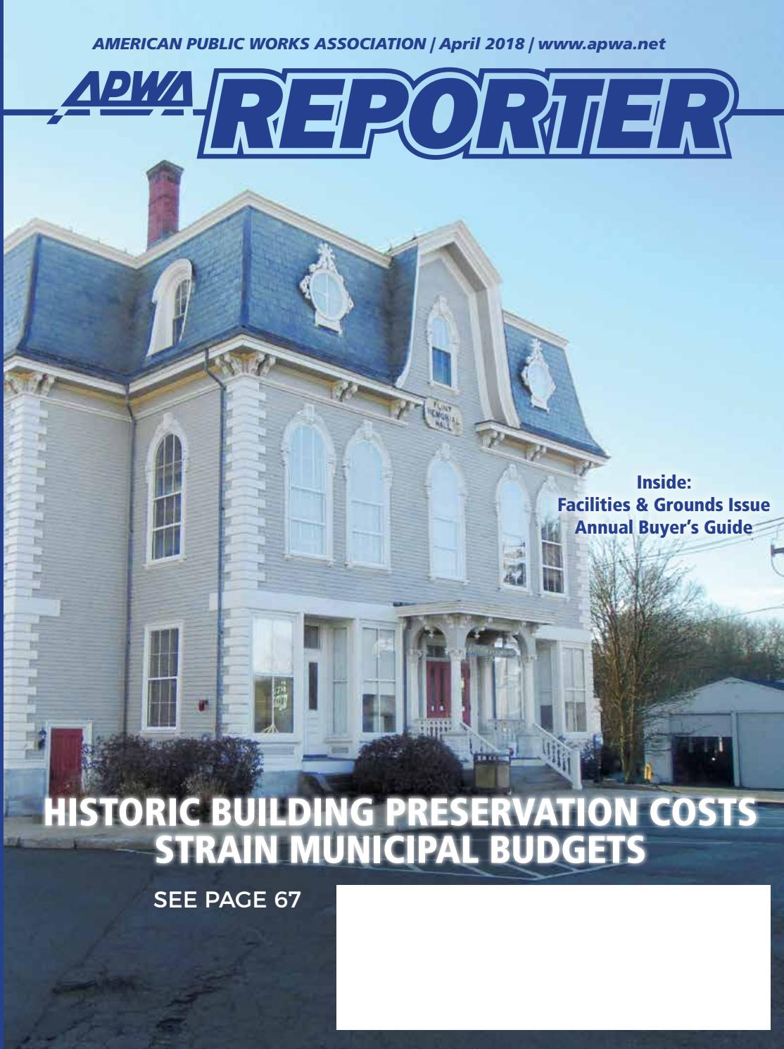 APWA Reporter, April 2018 issue by American Public Works Association ...