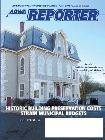 APWA Reporter, April 2018 issue by American Public Works