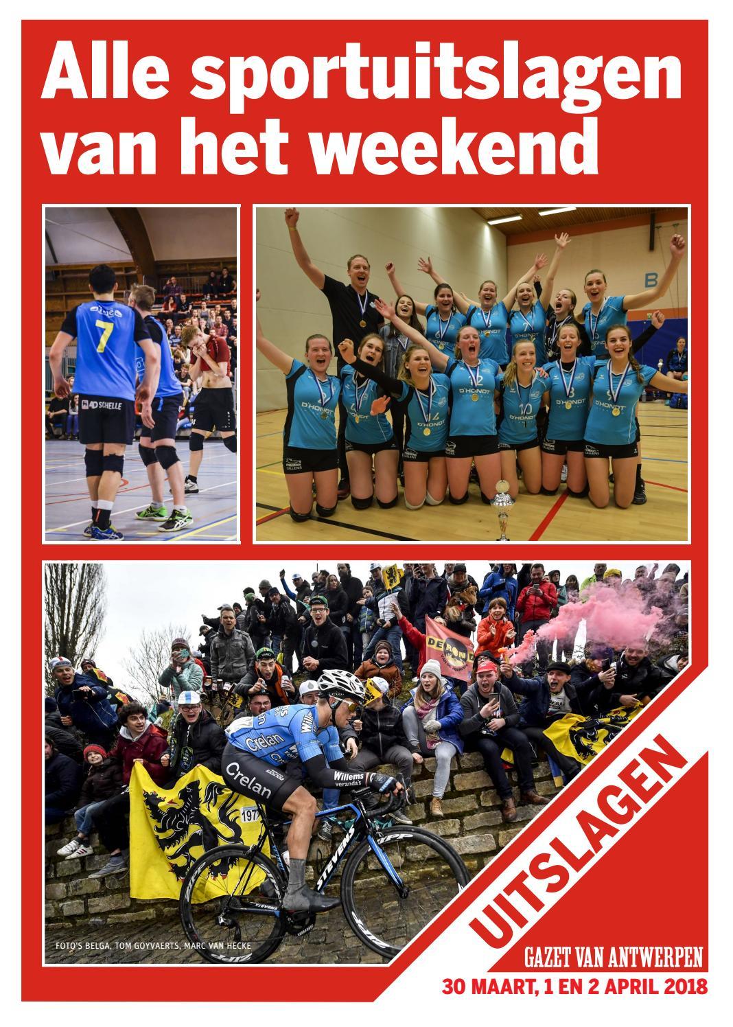 b325badee65 Sportuitslagen 2018-04-02 by Gazet Van Antwerpen - issuu