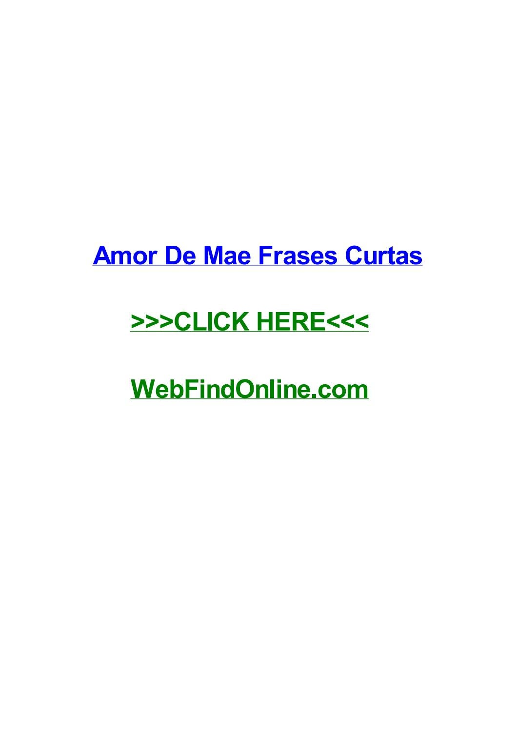 Amor De Mae Frases Curtas By Laurenbudqh Issuu