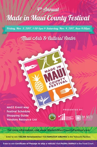 2017 made in maui county festival event program booklet by made in
