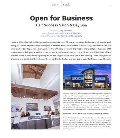 Page 39 of Open for Business - Hair Success Salon & Day Spa