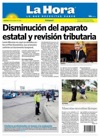 Cotopaxi 03 de abril de 2018 by Diario La Hora Ecuador - issuu