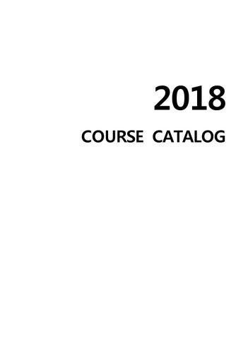 2018 course catalog by PR-Team Unist - issuu