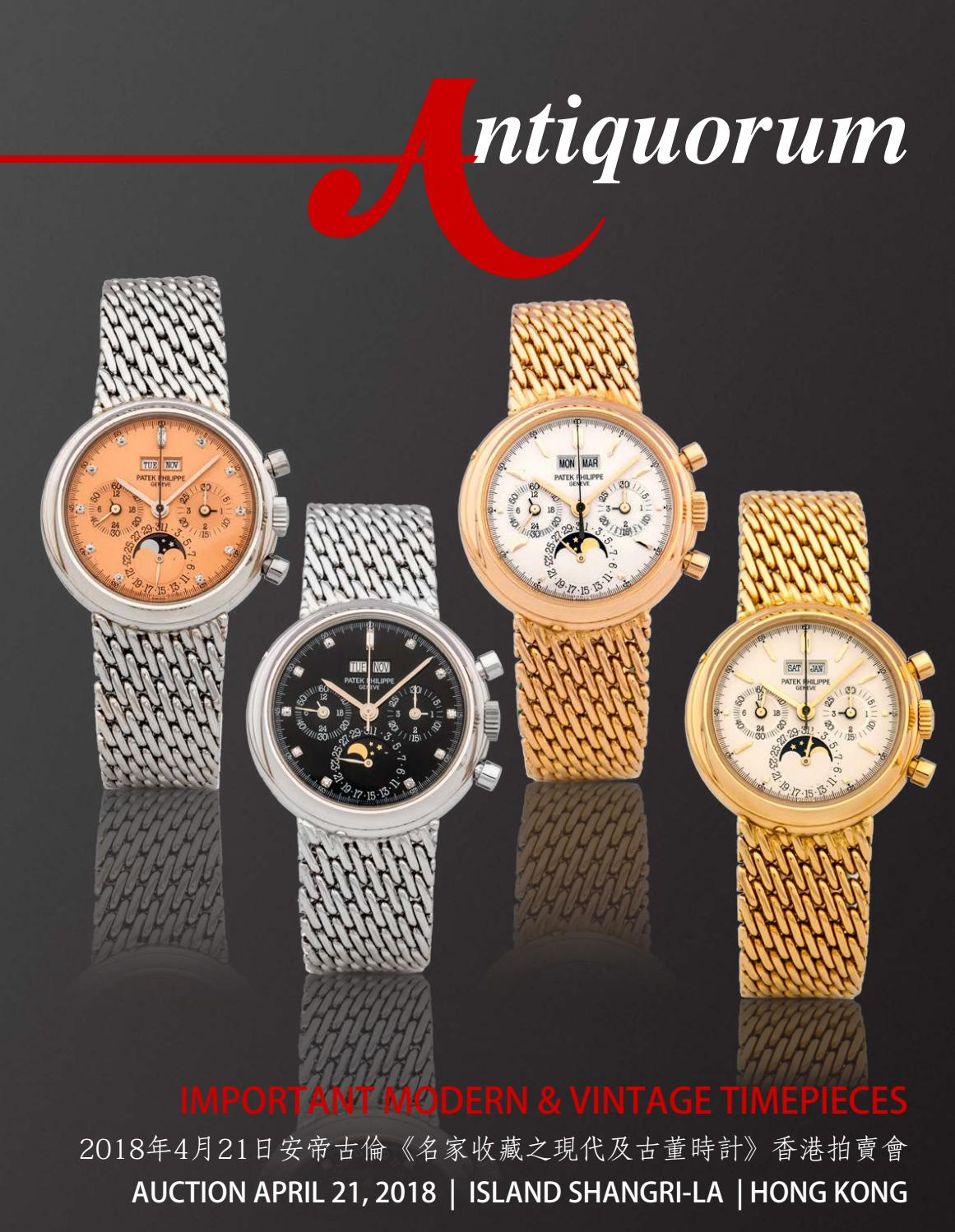 Important Modern Vintage Timepieces By Antiquorum Genve Sa Issuu Rolex Parts Diagram For Cal 3035 1 Gent39s Datejust As It