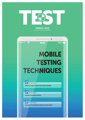 Page 1 of TEST Magazine March 2018
