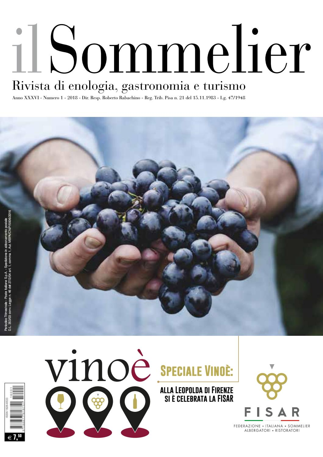 Il Sommelier n.1 2018 by F.I.S.A.R. - issuu 2c6f41312d76