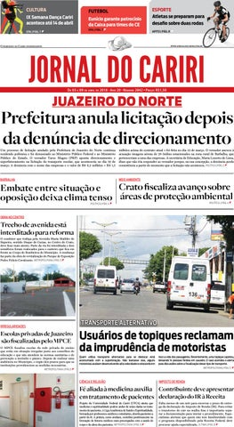 Jornal do Cariri - 03 a 09 de abril de 2018 by Ceará News - issuu 2e8681ba67547