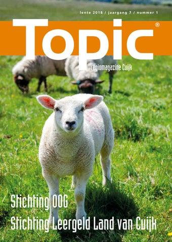 Topic Cuijk Lente 2018 by RvB Media - issuu