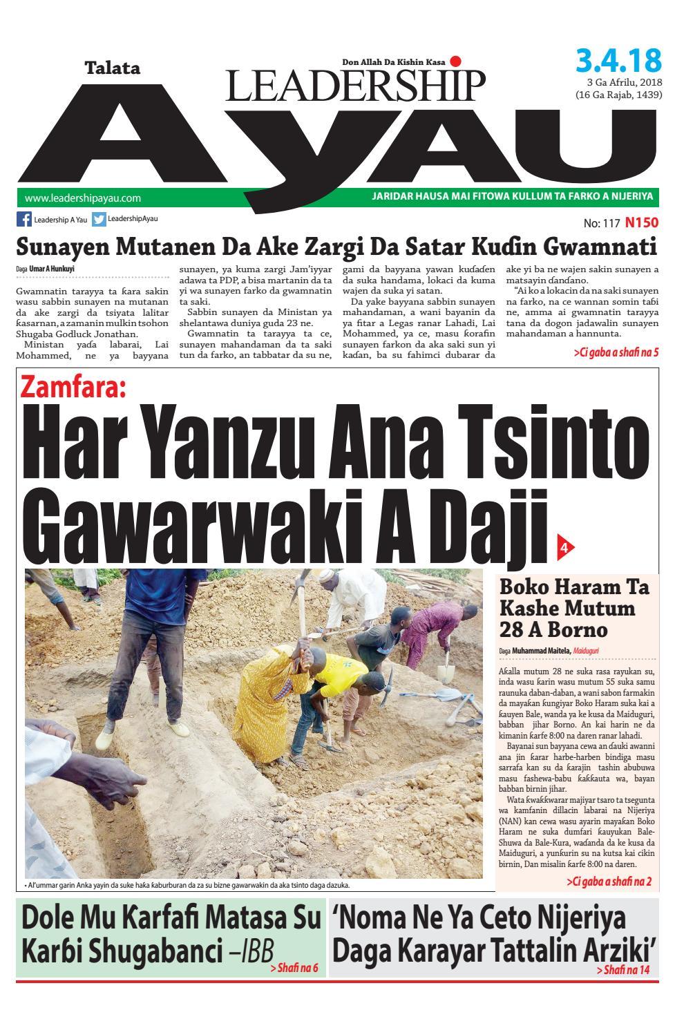 LEADERSHIP A Yau E-paper 3 Ga Afrilu 2018 by Leadership