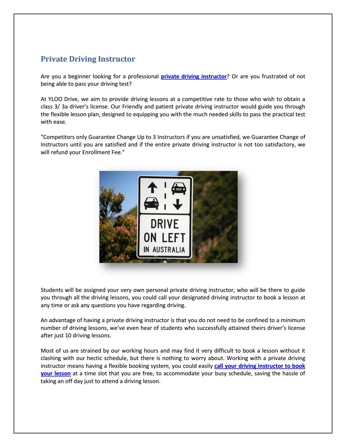 Private Driving Instructors Near Me >> Private Driving Instructor By Drivinginstructorsqld Issuu