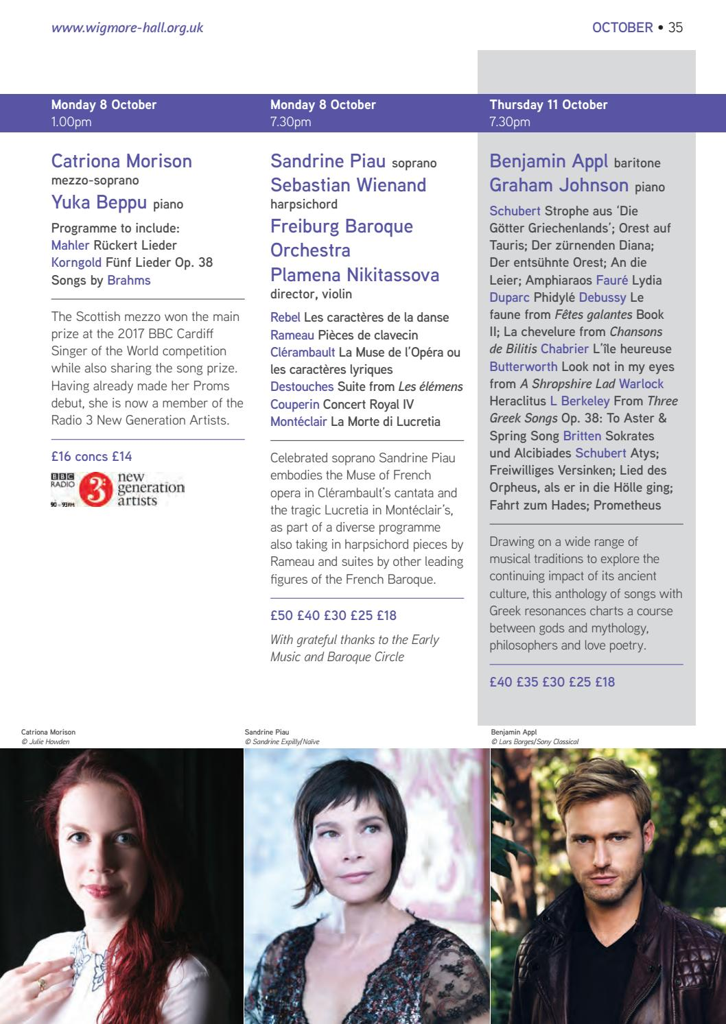 Autumn 2018 Wigmore Series by Wigmore Hall - issuu