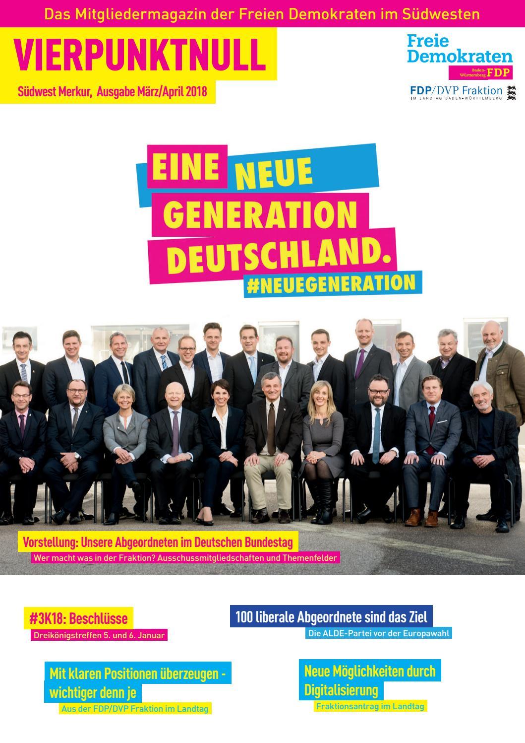 Vierpunktnull Ausgabe April 2018 By Fdp Baden Württemberg