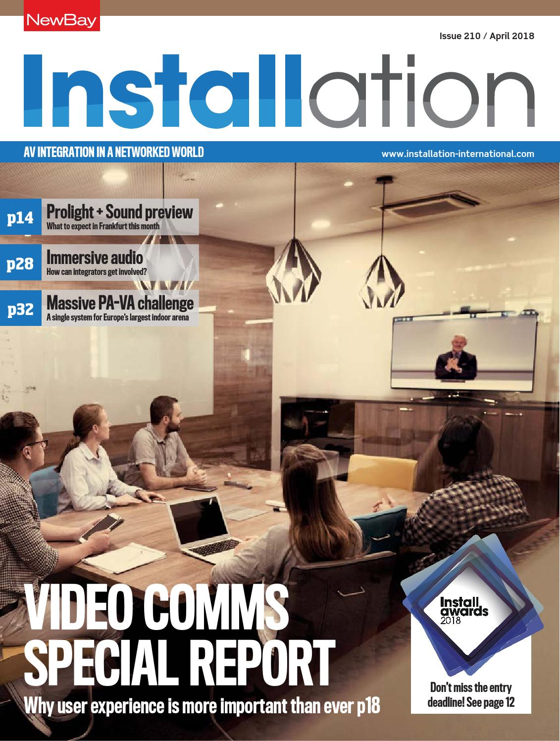 Installation April 2018 Digital Edition By Future Plc Issuu At Light Fixture Box Proceeds To First 3way Switch A 4
