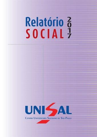 0fca8f16a Relatório social 2017 by UNISAL - issuu