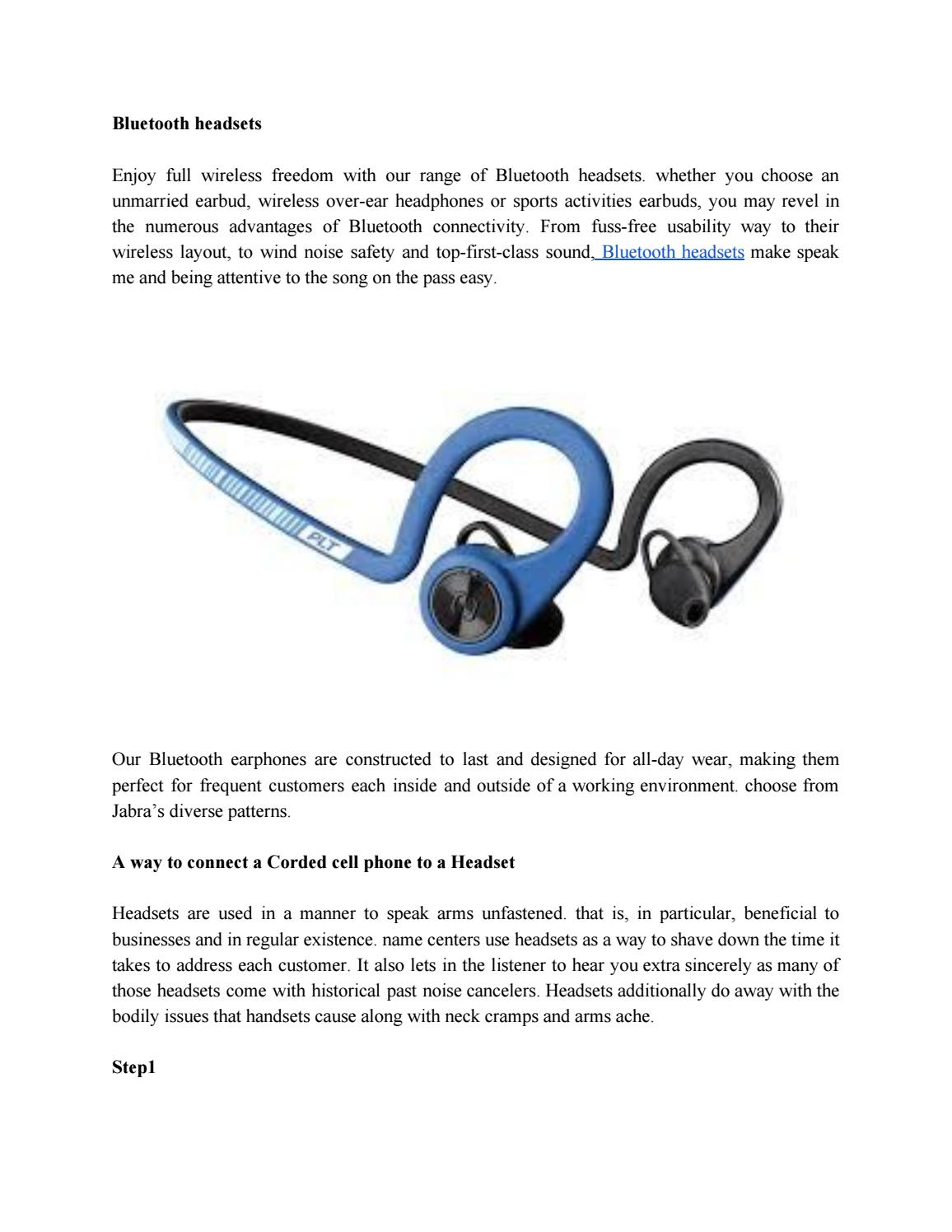 How To Connect Headset To Landline Phone By Stevenrobin071 Issuu