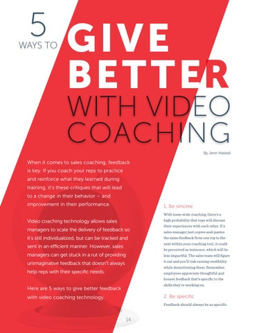 Page 14 of Give Better Feedback with video Coaching