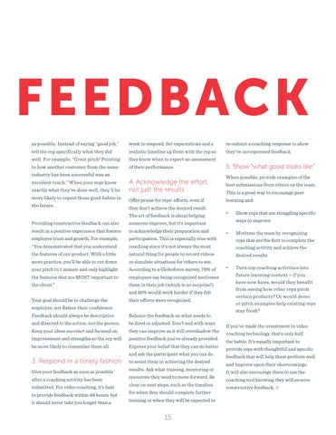 Page 15 of Give Better Feedback with video Coaching