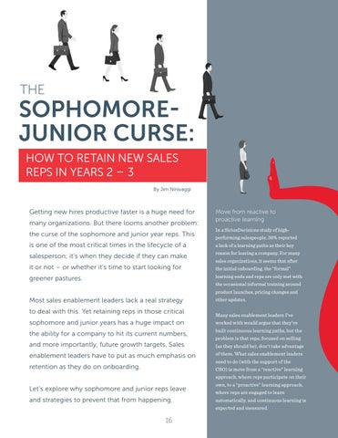 Page 16 of The Sophomore Junior Curse: How to retain Sales Reps in years 2\u20133