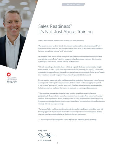 Page 3 of Sales Readiness? It's not just about training