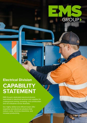 EMS Group Electrical Capability Statement 2018 by EMS Group